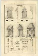 1874 Designs For Some Wooden Porches, Elevations, Design, Wh Lockwood