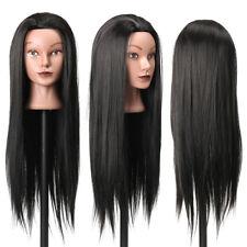 """27"""" Professionnel Tête À Coiffer Cheveux Couleur Long Naturel Coiffure Mannequin"""