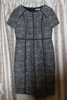 Planet Ladies, lined, Cotton Mix black & white Short Sleeve Dress ~ Size 10