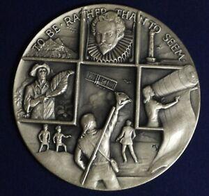 North Carolina State 200th Bicentennial Silver Medal Box Stand .999 Fine 4.2 oz