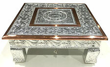 "10"" x 10"" Hindu Wedding Bajot Bajath Chowki Puja Low Small Table Camping Table"