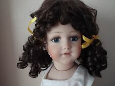 11-12 inch ECONOMY LONG DOLLS WIG IN CURLY BUNCHES IN DARK BROWN   TANYA