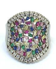 Cocktail Ring Multicolor - Zirkonia    925er Silber  # 60