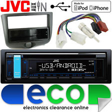 Toyota Yaris 1999-2003 JVC CD MP3 Radio USB Aux In Car Stereo & Fascia Panel Kit