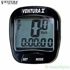 Ventura X 10 Funktionen Fahrradcomputer schwarz Tacho Doppelanzeige