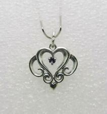 JAMES AVERY RETIRED STERLING SILVER ORNATE HEART CHARM WITH AMETHYST - LB-C1068