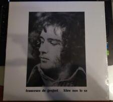 FRANCESCO DE GREGORI - ALICE NON LO SA- RISTAMPA VINILE 2015 - SONY MUSIC - RCA