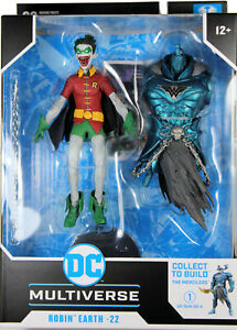 DC Multiverse ~ ROBIN EARTH-22 (CROW)(FULLY OPEN MOUTH VARIANT) w/MERCILESS BAF