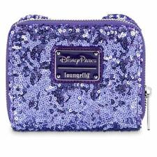 New Disney Parks Minnie Mouse Potion Purple Sequined Wallet By Loungefly
