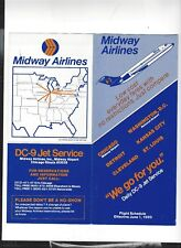 Midway Airlines  June 1 1980  timetable