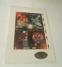 marvel universe 1992 uncut 4 card panel ( ltd. edition # 9003 )
