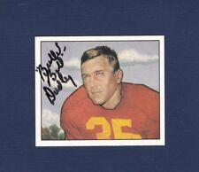 Bullet Bill Dudley signed Redskins 1950 Bowman reprint football card