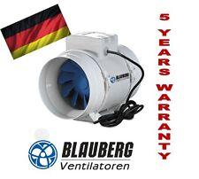 BLAUBERG TURBO 125mm INLINE FAN BATHROOM EXHAUST VENTILATION HYDROPONIC FANS AIR