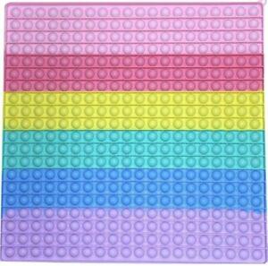 40cm Jumbo 400 Bubble Poppit Push Pop Fidget Toy Big Rainbow Sensory Fidget Toys
