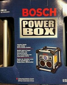 Bosch Tools Model PB10 Power Box HD Job Site Radio Only w/4way outlet New Unused