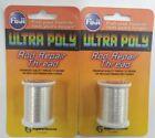 2-FUJI Ultra Poly Metallic 100M Spool Silver Rod Building Thread 2 PACK MTA-903C