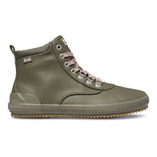 Keds Women's Scout Boot II Water Resistant Olive Canvas Boots WF63369 NEW!