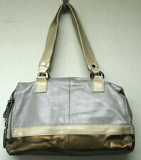 KENNETH COLE REACTION CHAIN EVENT SATCHEL BAG PEWTER MULTI HR51238MT NWT $169