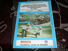 1990 programma Motocross-British SIDECARCROSS & 4 tempi Champs ROUND 1