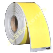 10 x 99012 Dymo Seiko Compatible 260 YELLOW Thermal labels per roll 36 x 89mm