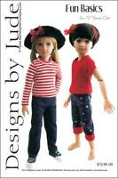 """Fun Basics Doll Clothes Sewing Pattern for 12"""" Senson Dolls Designs by Jude"""