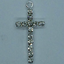 1x Beautiful Diamante -diamonte-  cross for candle craft sample