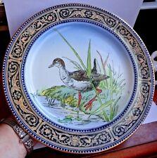 Gorgeous Rare Edwardian Doulton Burslem Game Bird Cabinet Plate D1755