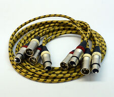 4x1,5 Meter Profi XLR-Cinch-Kabel für Revox PR99 Studer A80 A810 A812 A816 A820