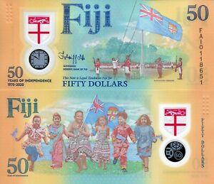 Banknote Fiji 50 dollar 2020 polymer GEM UNC