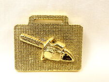 Nice Vintage Homelite Chain Saw Deep Relief Textured Brass All Metal Watch Fob