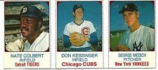 Nate Colbert  Don Kessinger  George Medich 1975 Hostess 3-Player Baseball Panel