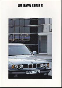 brochure 1991 BMW Série 5 Berline !!! ______________________________ en français