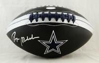 Roger Staubach Autographed Dallas Cowboys Black Logo Football- JSA W Auth