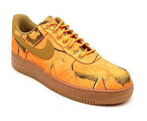 Nike Air Force 1 Real-Tree Orange Hype Camo Shoes AO2441-800 Men's Size 9