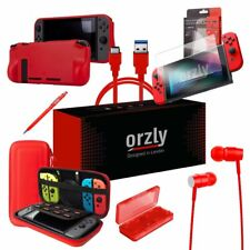 Orzly Pouch Ultimate Pack for Nintendo Switch - Red