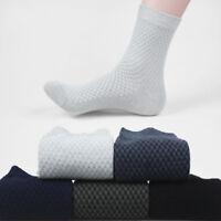Men Casual Bamboo Fiber Antibacterial Deodorant Socks Breathable Business Socks