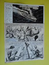 "SERGIO TARQUINIO-tavola originale FIRMATA pagina-25  -""3 Storie Avventurose""1954"