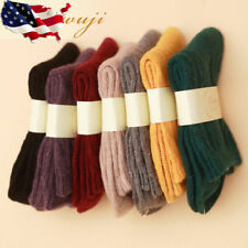 5 Pairs Womens Wool Cashmere Super Warm Soft Comfort Casual Solid Winter Socks