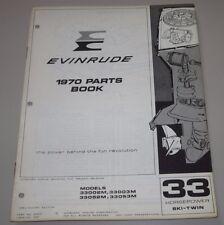 Parts Book Evinrude 33 HP Ski Twin 33002M 33052M Ersatzteilkatalog Stand 1970!