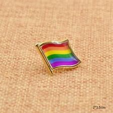 LGBT Badge Brooch Pin Lesbian Gay Pride Rainbow Lapel Pin Unisex 1pcs