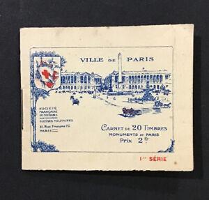 France- Carnet de 20 timbres-Croix Monuments De Paris Booklet Serie 1