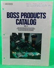 BOSS Products Catalog Volume 11 Complete 28 Pgs With Adapter Charts Vintage 1990