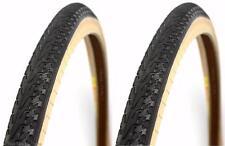 "2-Pack Panaracer Pasela Skinwall 27x1-1/8"" Road Bike Tires Wire Bead Black & Tan"