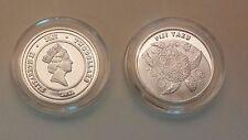 1 Gram .9999 Fine Solid Silver Round - Queen Elizabeth Fiji Taku Design