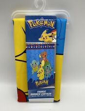 "Nintendo Pokemon Fabric Shower Curtain 72"" X 72"" Pokemon and Friends New"