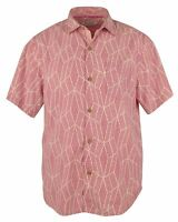 Tommy Bahama Island Zone Tommaso Tiles Silk Blend Camp Shirt Men's Sz XL Fuchsia