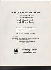 Milton Bradley 1975 Clip Book of Line Art for Games Puzzles Great Reference