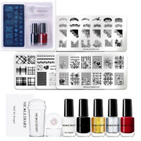 4Pcs NICOLE DIARRY Para Uñas Stamping Placa Stamper ador Nail Art imágenes