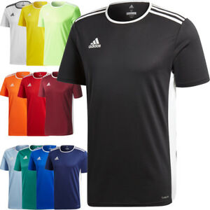 Adidas Mens ENTRADA 18 Climalite Jersey T Shirt Top Football Sports S M L XL XXL