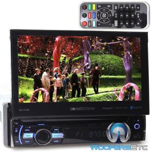 "Soundstream VR-75XB 1-DIN In-Dash DVD Bluetooth Receiver 7"" Flip-Out Touchscreen"